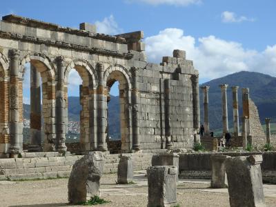 メクネスMeknèsと、ローマ遺跡を見に近郊ヴォルビリスVolubilisに行って来た冬の日。