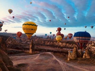 7日目 トルコ周遊 おひとり様 ツアー 1月カッパドキア 気球 服装