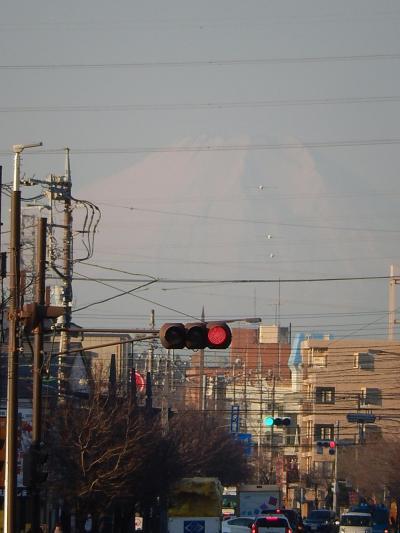 2月9日上福岡駅から見られた富士山