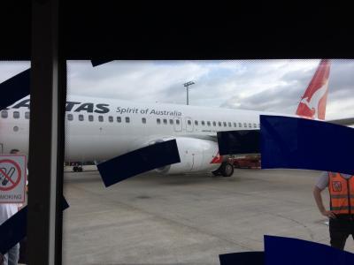 QF138で飛ぶシドニー!