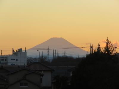久しぶりに見られた素晴らしい影富士