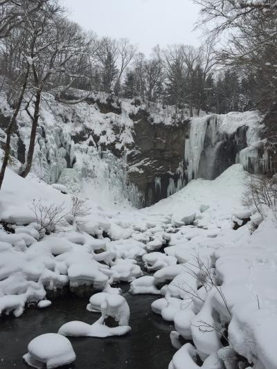 431-冬も楽しい「滝野すずらん丘陵公園」、アシリベツの滝氷瀑&スノーシュー