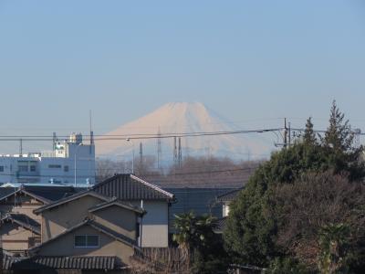2/13ふじみ野市から見られた素晴らしい富士山
