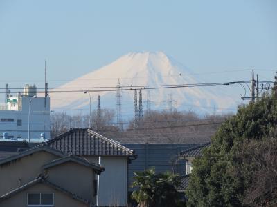2/14ふじみ野市から見られた素晴らしい富士山