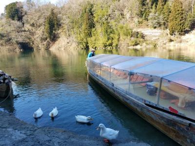 天竜峡 こたつ舟でライン下り