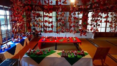 川西市郷土館 上巻 ひな人形展・さるぼぼ展・小さな和の世界展。
