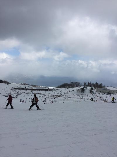 箱館山スキー場、家族で電車割でいってきました