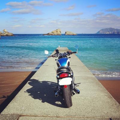 バイクの後ろに乗って@西伊豆で温泉と海の幸を満喫。なぜか帰りは新幹線