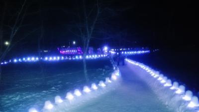栃木県 奥日光で雪見露天風呂と素敵な夜 (6-5) 夜のミニかまくらとジャズライブ