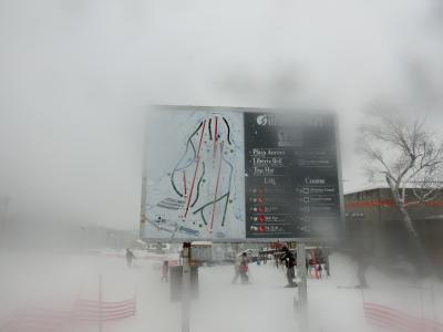 長野へ! その2   吹雪の中、いいづなリゾートでスキー