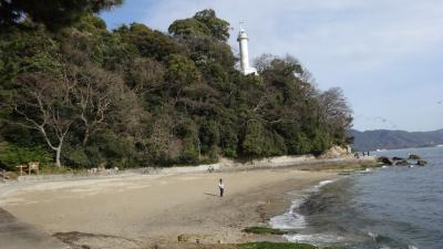 広島市内で自然海岸が残る宇品燈台までの遊歩道を歩く
