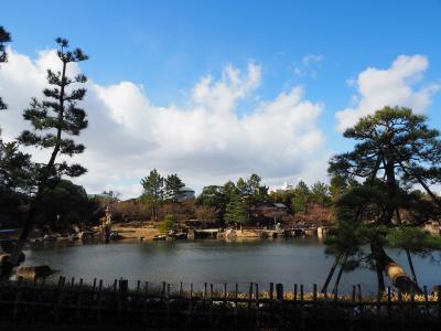 徳川園 尾張徳川家 邸宅跡地 どうしても一目見たかった!! 池泉回遊式の日本庭園 牡丹と雪が美しい