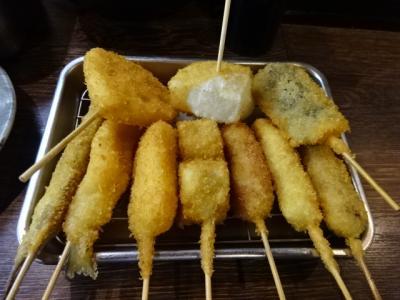 大阪串カツ食べ放題、ホテル関西の朝食バイキングと梅田なにわ家のかすうどん