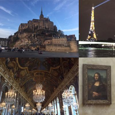 初ヨーロッパ家族旅・フランス(パリ・モンサンミッシェル)