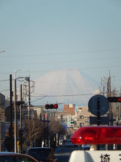 久しぶりに上福岡駅から見られた富士山