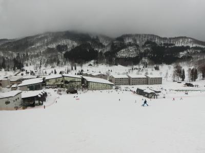 タングラム斑尾でスキー  その2  お天気今一つだけど滑りまくりました。