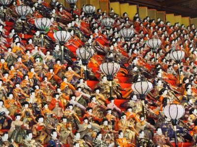 可睡斎 遠州三山 その③ ひな祭り 32段1200体もの雛人形と傘福! 室内牡丹園も見事でした!