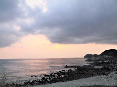 高浜海岸(和歌山県すさみ町)の夕日を見ようとしたが失敗・・・