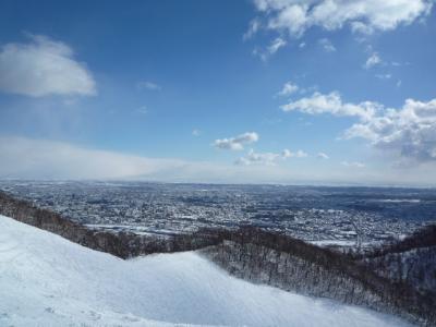 北海道でスキー