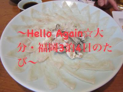 ~Hello Again☆大分・福岡3泊4日のたび~ 【3】博多で思い出の河豚を食べよう 終