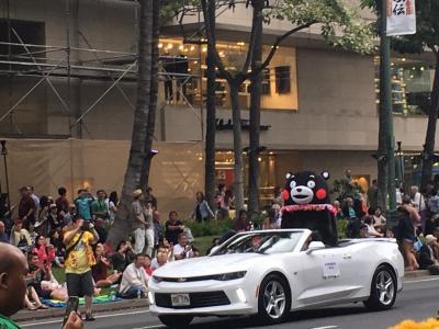 ハワイ最大のお祭り(くまモン)