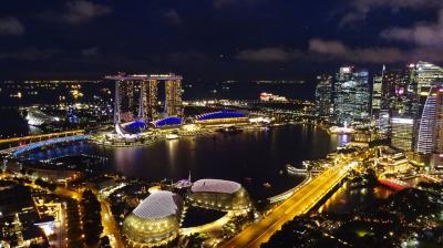 201801,シンガポール7,マーライオンパーク,スタンフォードのプール