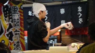 和歌山観光(26) ホテルへのチェック・インし、黒潮市場の見学に行きました。