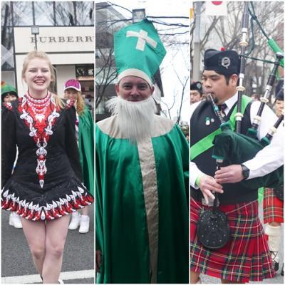 St. Patrick's Day を祝い、パレードを楽しむ