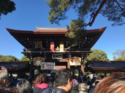 久々の初詣は明治神宮(2018年1月)