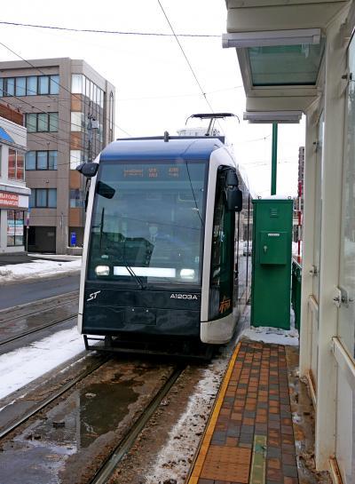 2018.2札幌出張・雪まつり前日2終-Sapporo Susukino Bar GARAMで昼食,札幌市電で1周,豊平館