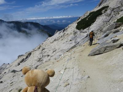 甲斐駒ケ岳 仙丈ヶ岳 行ってクマす。甲斐駒ケ岳下山するクマ。