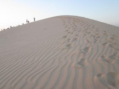 ファンティエットで砂にまみれる