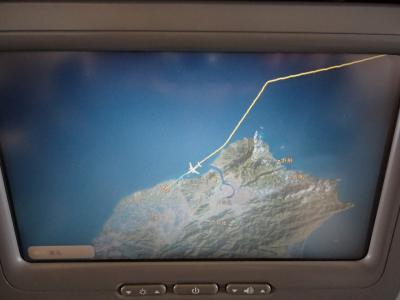 マイレージ特典航空券にて、JL805便搭乗で、臺灣へ