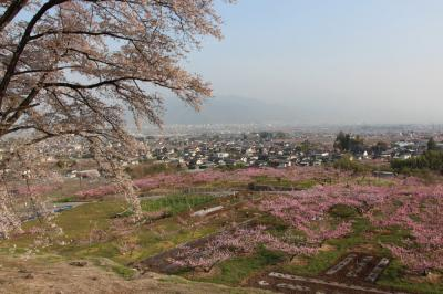 桃の花を見に、山梨へ