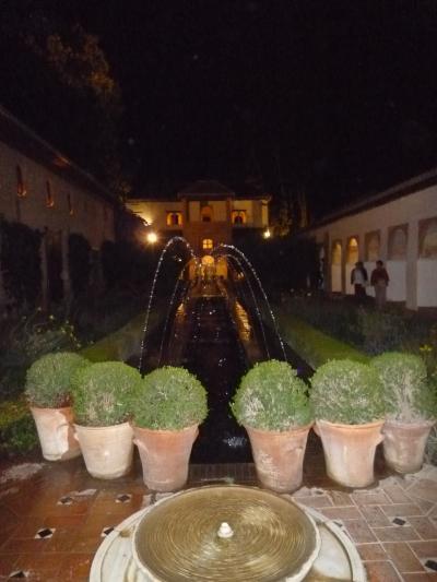 スペイン訪問記 「夜のアルハンブラ宮殿」グラナダ・アンダルシア