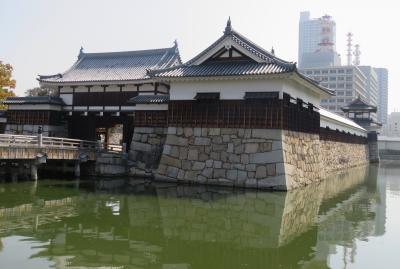 2018春、中国西部の百名城巡り(1/28):4月3日(1):広島城(1):名古屋から新幹線で広島へ、再建された二の丸