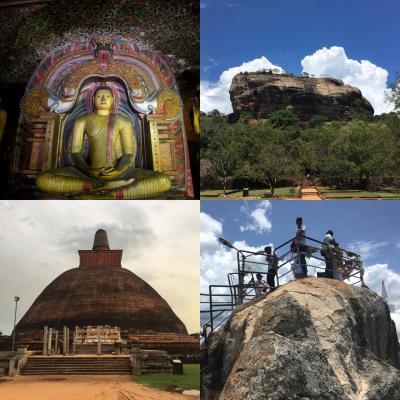 南アジア縦横断の旅(5)Sli Lanka《ダンブッラ・石窟寺院。シギリヤロック。アヌラーダプラの大仏塔とミヒンタレー》