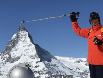 スイス・ツェルマットでスキー&ハイキング