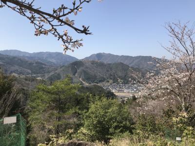 遠くに竹田城跡