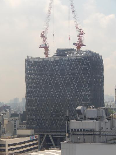 東武百貨店12階より見られる西武鉄道池袋ビル(仮称)建設その他風景