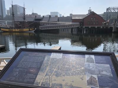ボストン茶会事件の跡に博物館