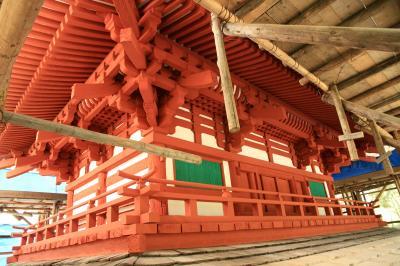 君尾山 光明寺の国宝二王門修復工事現場見学会に参加して。