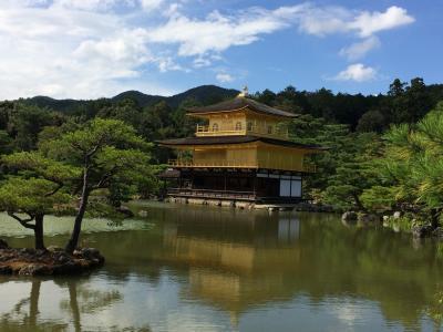 秋の京都その3 しょうざんリゾートの渓流床でランチ&金閣寺
