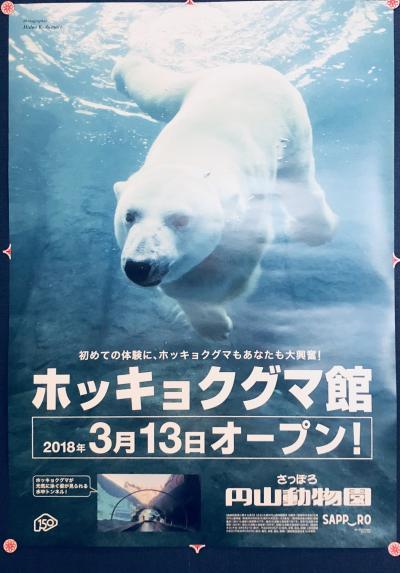 2018  春  札幌  円山動物園  新装オープン  ホッキョクグマ館に行く