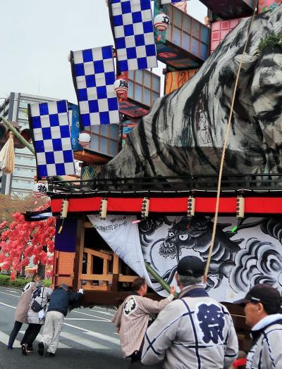 日立-7 日立風流物:巨大な山車を早回し ☆舞台は表館⇒裏山に