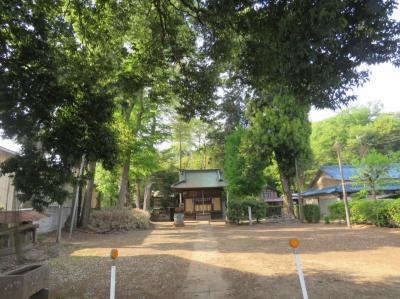 川越市下松原地区にある村社稲荷神社を訪問する