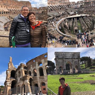 最後の旅行地ローマ、茶売さん念願のコロッセオ、34年かかって中に入れた。感動。(その2)