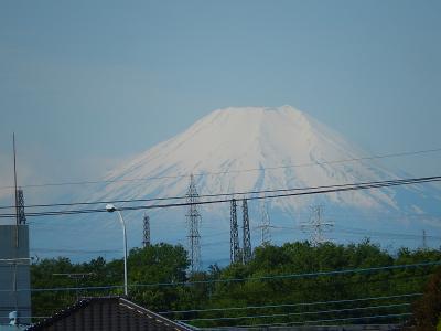 久しぶりに素晴らしい富士山が見られました
