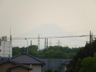 薄っすらとした影富士が見られました