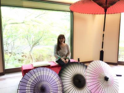 強羅公園の後 昼食 ステーキ丼! 落花生型最中でコーヒータイム・温泉でゆったり♡